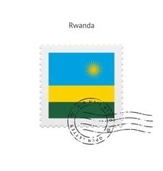 Rwanda Flag Postage Stamp vector