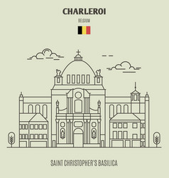 Saint christophers basilica in charleroi vector