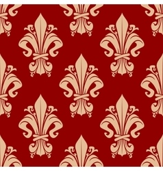 Seamless victorian fleur-de-lis pattern background vector