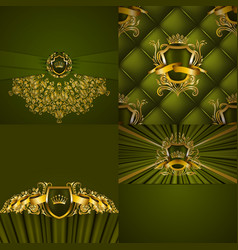 Set of luxury ornate backgrounds in vintage style vector
