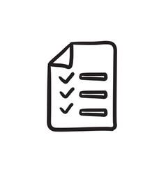 Shopping list sketch icon vector