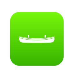 small boat icon digital green vector image