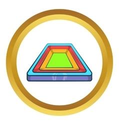 Small stadium icon vector