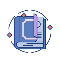 Spellbook line color icon vector
