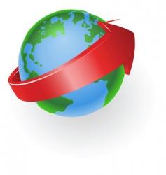 Spinning globe vector