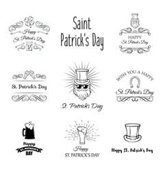 St patricks day labels set vector
