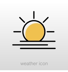 Sun Heat icon Meteorology Weather vector