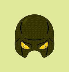 Superhero mask snake reptile protective mask vector
