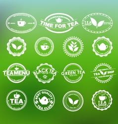 Tea logo 1 vector