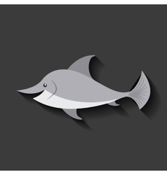 tender cute dolphin card icon vector image