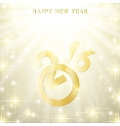 Text design Happy New Year 2016 with golden vector image