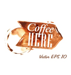 Traces Coffee Pointer vector image