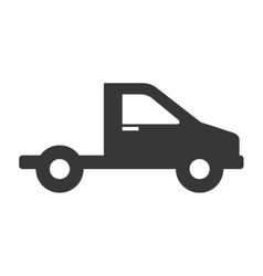 Truck vehicle delivery isolated icon vector