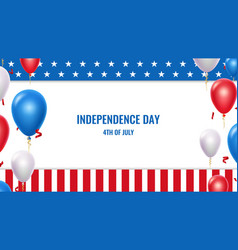 usa independence day 4th july patriotic american vector image