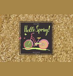 Vintage bike poster spring sales vector