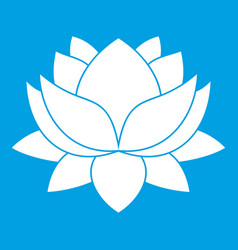 water lily flower icon white vector image