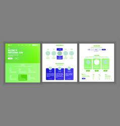 Web page design website business concept vector