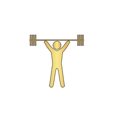 Weightlifting computer symbol vector