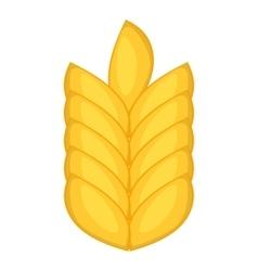 Wheat ear icon cartoon style vector