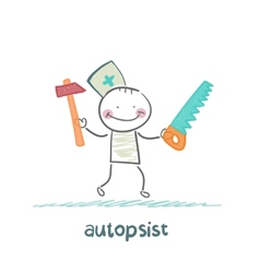 Autopsist with a saw and mrlotkom vector