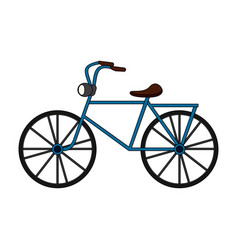 color image cartoon antique bicycle transport vector image vector image