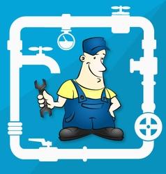 Master for repair plumbing vector image vector image