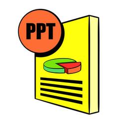 ppt file icon cartoon vector image