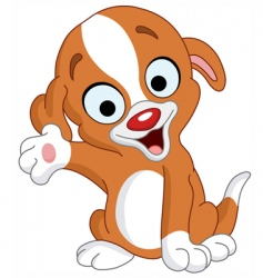 presenter puppy vector image