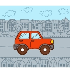 4WD car in the city vector image