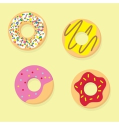 Donuts Donut icon food vector image