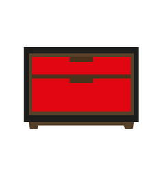 small red chest vector image vector image