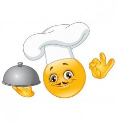 chef emoticon vector image vector image