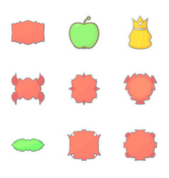 different vintage sticker for store icons set vector image vector image
