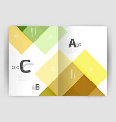 modern geometrical a4 flyer brochure vector image