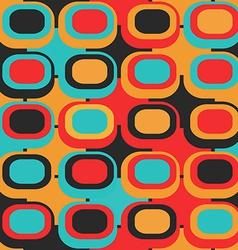 retro circle seamless pattern vector image