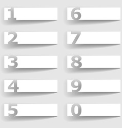 Blank paper square number options vector