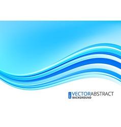 Blue ocean background vector image vector image