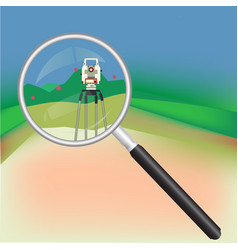 Geodesy and magnifier vector