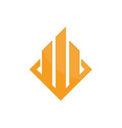 real estate company logo image vector image
