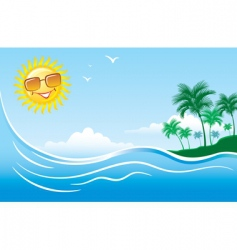 tropical marine landscape vector image vector image