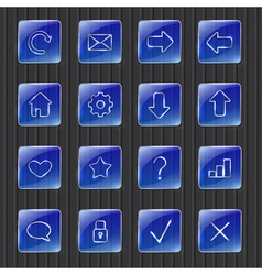 Web icons vector image