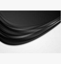 Abstract black and white contrast wavy background vector