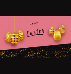 abstract easter background decorated with hanging vector image