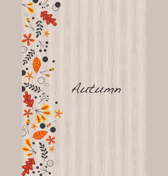 Abstract flat autumn leaves frame vector