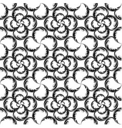 Abstract seamless pattern made of mixed elements vector