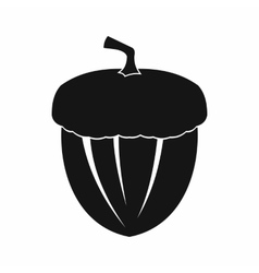 Acorn icon in simple style vector image