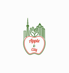 apple city logo template vector image