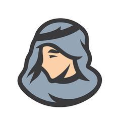 arabic man sign vector image