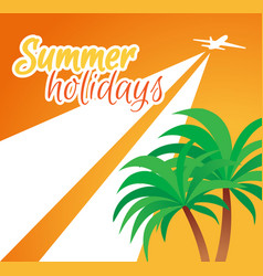 Banner summer holidays vector