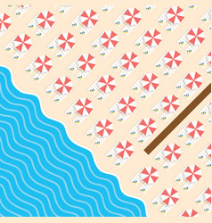 Beach stuff with deckchair and sea leisure vector
